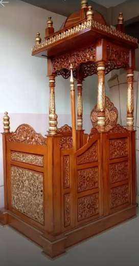 mimbar masjid kubah elegan mewah