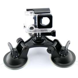 3 Feets Triangle Stable Car Suction Cup Glass Mount Sucker for Gopro