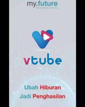 V tube, aplikasi bisnis online