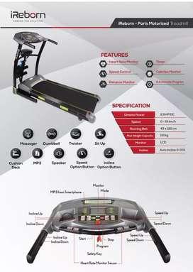 treadmill elektrik paris M-284 electric treadmil alat fitnes