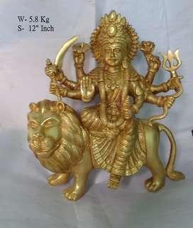 Durga ji brass murti