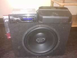 3 months used kenwood amp and dtrek 1200 watts woofer for sale urgent
