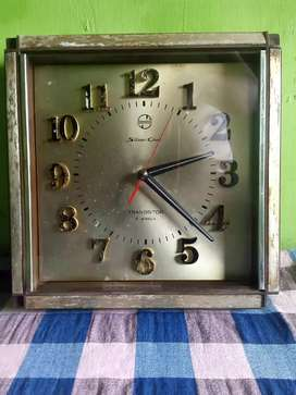 Jam dinding transistor jadul 7 telesonic silikon clock