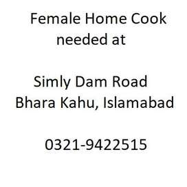 Female cook required for a family of 4