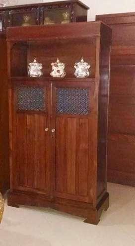 Lemari jati asli 2 pintu