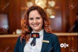 good looking receptionist