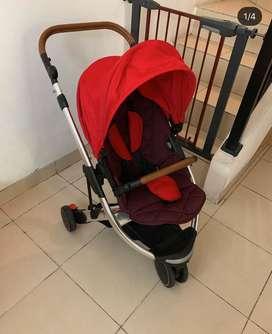 Oyster Gem Stroller - Red