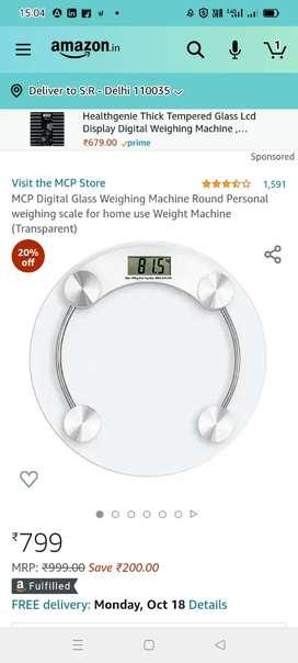 Human weight scale machine