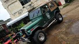 jeep Cj7 kanvas bensin tahun 83 sumbu lebar surat isi bangun total