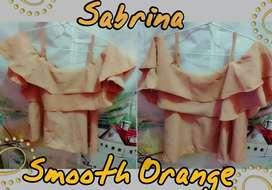 Pakaian Wanita Sabrina Smooth Orange