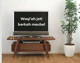 Meja tv pendek model Retro modern, P. 100cm, bahan kayu jati tua asli