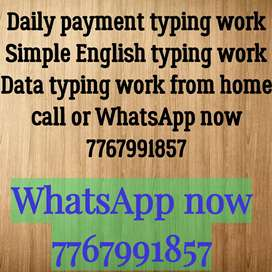 Data typing work from home