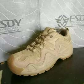 Sepatu Outdoor/Gunung ESDY LW Kets Tactical Pendek Coklat Gurun Import