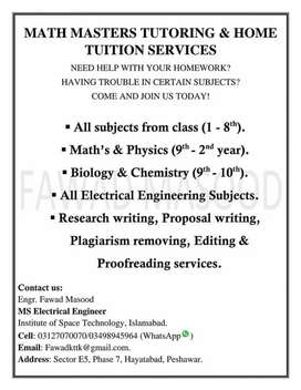 Math Masters Tuition Academy and Home services