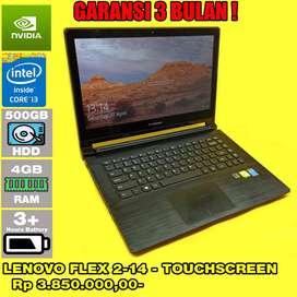Laptop Bekas LENOVO FLEX 2-14 - TouchScreen - Dual VGA - Siap Pakai
