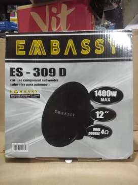 Ready stok subwoofer premium embassy es 309d bass bertenaga dan empuk