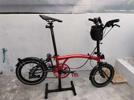 Sepeda Lipat 3sixty Red Candy Repaint Black Edition Threesixty