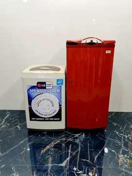 Whirlpool single door 190 litre and LG 6kg top load