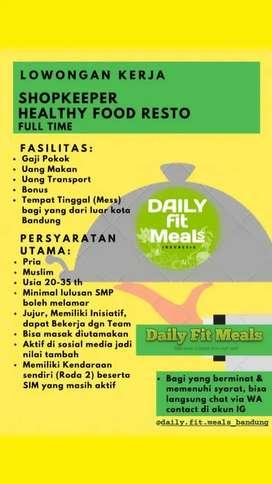 Loker Penjaga Resto Makanan Sehat Bandung