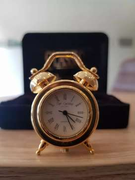 Beautiful brass made mini clock for office tables or ranks