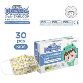 POKANA 3-ply Earloop Surgical Face Mask Kids