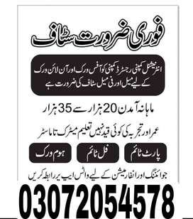 part time & full time jobs are available