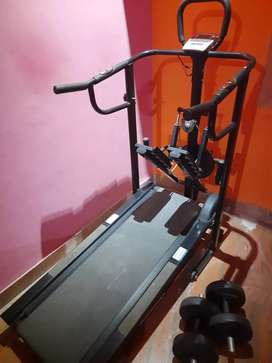 4 in 1 Like New Rarely used treadmill.