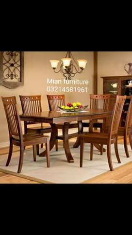New arrival Dining with Six chairs and table