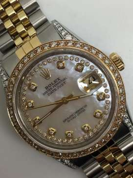 Rolex unisex kerang Diamonds kaki diamonds