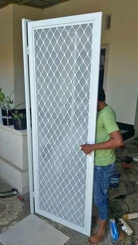 Pintu kasa nyamuk aluminium, pintu anti nyamuk ekspanda, pintu almini
