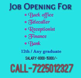 Job for Fresher/ Experience