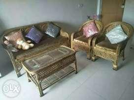 Sofa made of bamboo wood