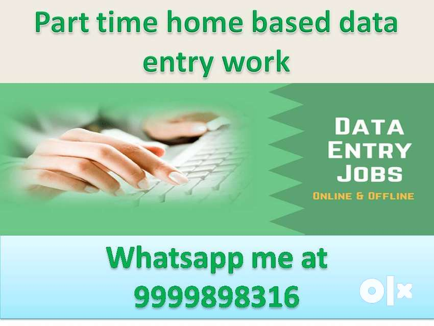 Data entry job home based simple typing work part time job 0