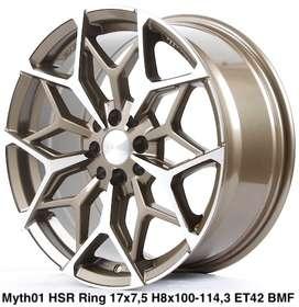 jual velg baru MYTH01 HSR R17X75 H8X100-114,3 ET42 BRZ/MF
