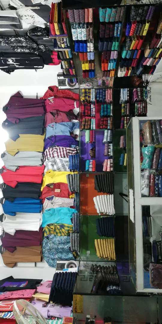 Garments shop for rent with stock 0