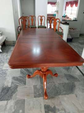 UK imported solid wood dining table with 6 chairs and sideboard