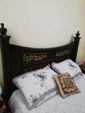 King size bed - solid wood