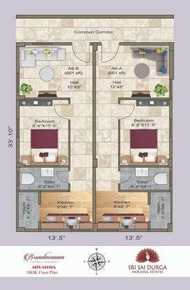 Today Investment tomorrow Growthing 1BHK Flats In Gannavaram @16.5*L