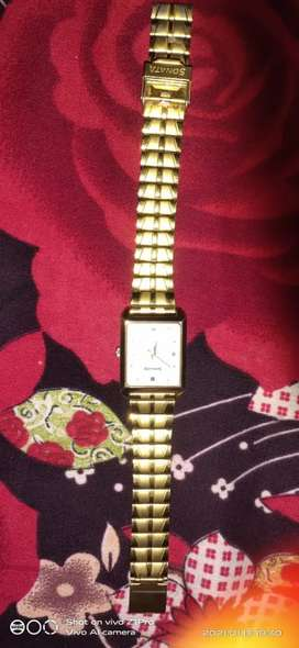 Gold colour sonta watch