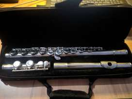 Republic Western Silver plated Metal Flute Made in US