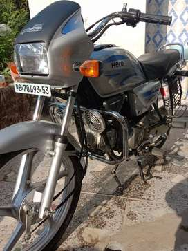 Hero silver splendor new condition self start