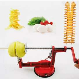 Potato Spiral Cutter Twisted Fruits Vegetable Slicer Stainless