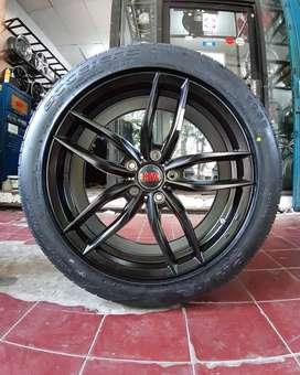 Velg Mobil + Ban 225/50 R18 untuk terios, xpander, innova, dll