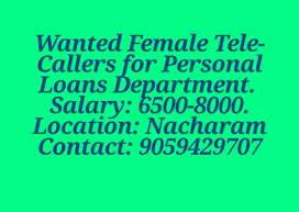 Looking for Female Telecallers