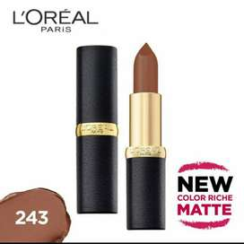 Loreal Paris Color Riche Matte Lipstick 243 Sweet Liquer Ori&New Segel