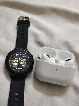 Apple airpods pro samsung galaxy active 2 smart watch