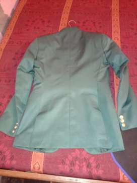 green blazer this blazer is very beautiful and this is cotton cloth