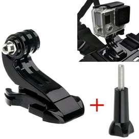 HS Mount Adapter J Hook + Screw Thumb Knob Action Camera GoPro Yi