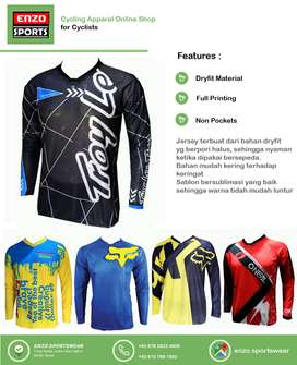 |COD POS| Jersey Sepeda DH TLD BlackBlue