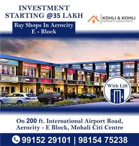 SHOPS, SHOWROOMS IN AEROCITY MOHALI
